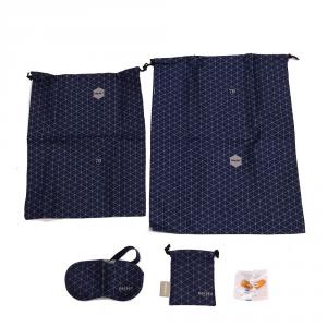 Delsey - Accessorio kit da viaggio composto da maschera, 2 sacchetti e tappa orecchie blu cod. 3940910