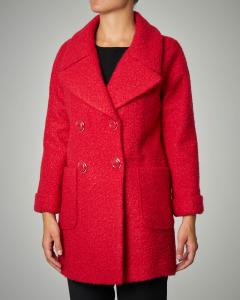 Cappotto rosso effetteo bouclè.