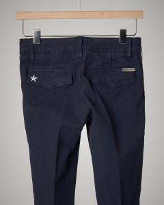 Pantalone blu con bande