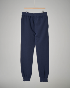 Pantalone blu in felpa con coulisse