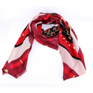 Foulard Liu Jo ANIMALIER A68247 T0300 DARK RED
