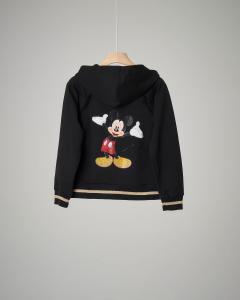 Felpa nera Mickey Mouse con cappuccio