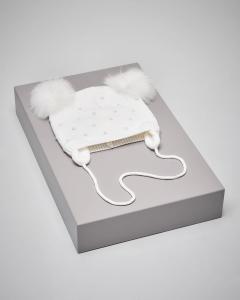 Berretto panna perle neonata