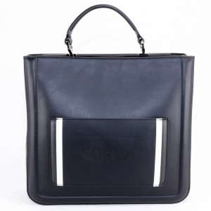 Hand and shoulder bag Furla REALE 985429 ONYX