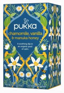 Pukka - tisana alla camomilla, vaniglia e miele di Manuka