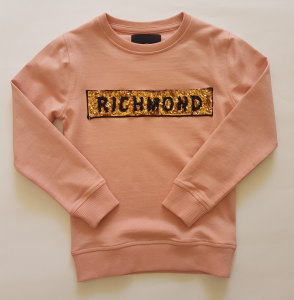 Felpa rosa cipria da bambina 8-16 anni Jonh Richmond