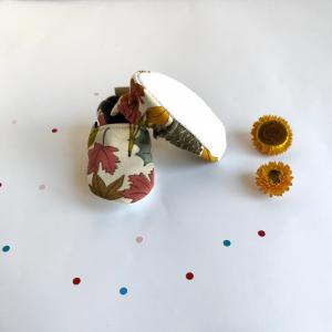 Scarpine antiscivolo fantasia autunno in cotone biologico