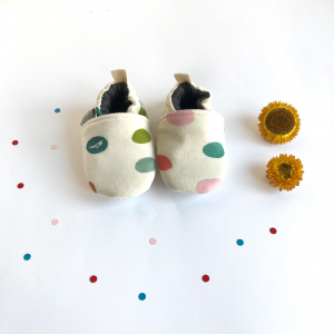 Non-slip shoes organic cotton confetti pattern