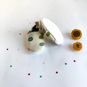 Scarpine antiscivolo fantasia confetti in cotone biologico