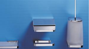 Porta scopino da appoggio per il bagno serie Time Colombo design