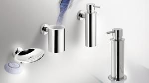Porta bicchiere a parete per il bagno serie Plus Colombo design