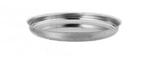 Vassoio Rotondo in acciaio Inox per Frutti di Mare cm.4h diam.36