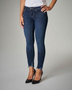 Jeans skinny Bottom Up con orlo sfrangiato