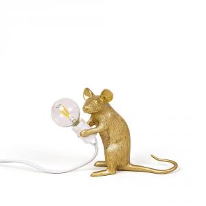 Lampada da tavolo Mouse Lamp gold