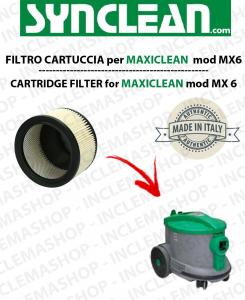 MX 6  FILTRO CARTUCCIA PER aspirapolvere maxiclean - cod: 2512750 - SYNCLEAN