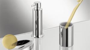 Dispenser dosa sapone da appoggio per il bagno serie Plus Colombo design