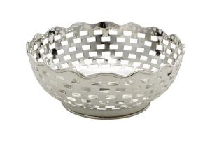 Ciotola argentata argento sheffield cm.10,5h diam.27