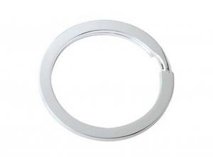 Anello per portachiavi argentato argento silver plated cm.3,5x3,5x0,2h