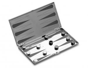 Backgammon in silver plated cm.12,5x12,5x3h