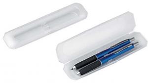 Box doppio plastica penne non incluse cm.16,9x3,9x2h