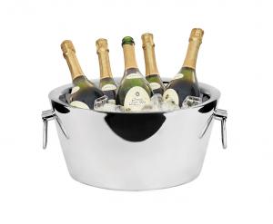 Spumantiera Champagne Doppia parete Con manici Acciaio Inox cm.18h diam.37,5