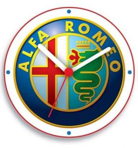 Orologio alfa Romeo in scatola cm.8,5x8,5x5h