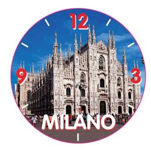 Orologio in scatola Milano cm.8,5x8,5x5h