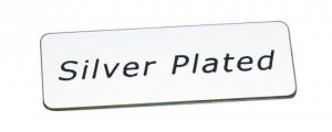 Piastrina marchio Silver plated cm.5x1,8x0,1h