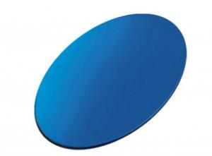 Piastrina ovale blu cm.3,5x2x0,1h