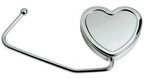 Portaborsetta cuore in silver plated cm.10x5x1h