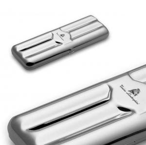 Portasigari triplo silver plated cm.16,7x5,8x3,5h