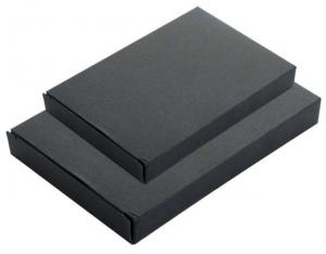 Scatola per agendina in cartoncino nero cm.21x14x2h