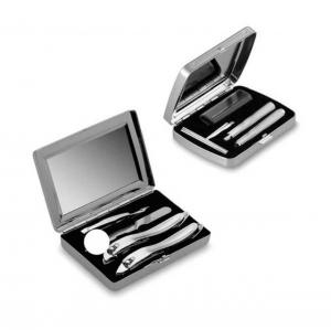 Set 2 pz lux viaggio beauty Lamborghini in silver plated