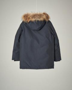 Parka detachable fur blu navy 8-16 anni