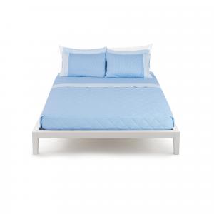 Set lenzuola Bassetti Piazza e mezza TIME Minimal azzurro con 2 federe