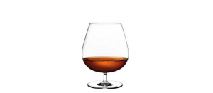 Calice Cognac in Cristallo stile Vintage Set 2pz cm.16h diam.8