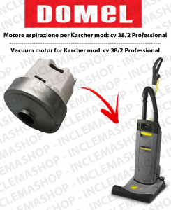 CV 38/2 Professional Vacuum Motor Domel for Battitappeto Karcher