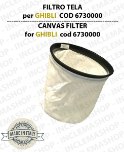 Canvas Filter cod: 6730000 for vacuum cleaner GHIBLI, WIRBEL, SYNCLEAN