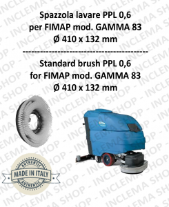 GAMMA 83 Strandard Wash Brush PPL 0,6 for Scrubber Dryer FIMAP