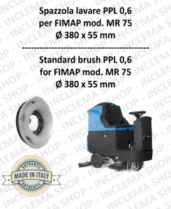 MR 75 Strandard Wash Brush PPL 0,6 for Scrubber Dryer FIMAP