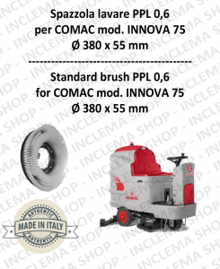 INNOVA 75 Strandard Wash Brush PPL 0,6 for Scrubber Dryer COMAC