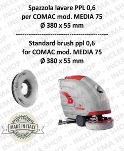 MEDIA 75 Strandard Wash Brush PPL 0,6 for Scrubber Dryer COMAC