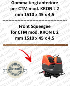 KRON L 2 Squeegee Rubber scrubber dryer anteriore for CTM
