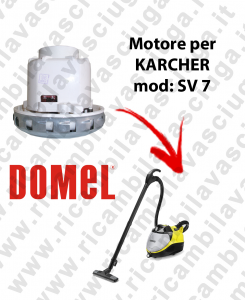 SV 7 Vacuum Motor Domel for pulitore a vapore con aspirazione