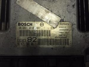 ECU Centralina Motore Peugeot 206 1.4 hdi Bosch 0281010707 9647158080 96 471 580 80 edc16c3