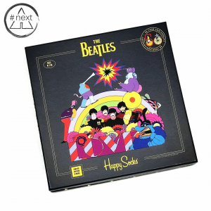 Happy Socks x The Beatles - Cofanetto 6 calze. Limited Edition