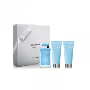 Dolce And Gabbana Light Blue Eau De Parfum Spray 100ml Set 3 Parti 2018