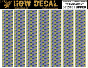 5-colour LOZENGE faded transpar. UPPER