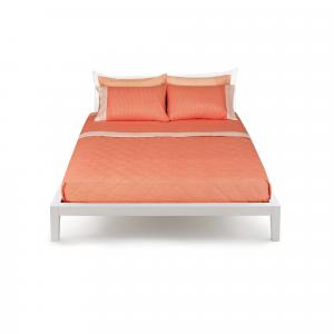 Set lenzuola Bassetti Piazza e mezza TIME Minimal arancio con 2 federe v9