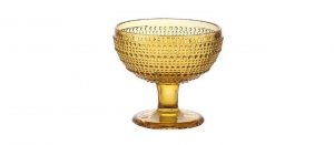 Coppa Gelato Ambra in Vetro 29cl Set di 6 pezzi cm.10,5h diam.11,5